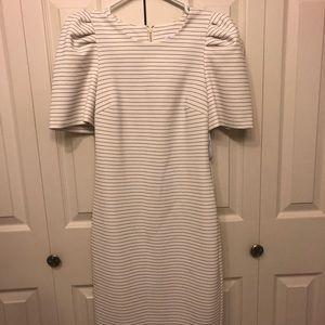 Calvin Klein White & Black Striped Dress